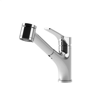 Pull Out Kitchen Faucet With 2-mode Spray Head - Chrome Product Image