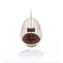 Emerald Home Catalina Hanging Basket Brown W/cream Wicker Frame Ou1061-09-15-k