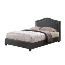 Upholstered Nailhead Platform Bed