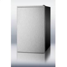 """20"""" Wide Built-in Undercounter All-freezer, -20 C Capable With A Stainless Steel Door, Horizontal Handle and Black Cabinet"""