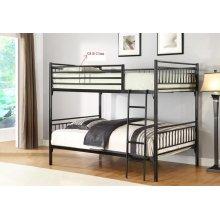 Twin/twin Metal Bunk Bed Bk)
