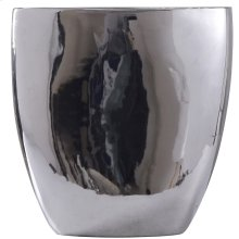 DARIUS VASE- SMALL  Chrome Finish on Ceramic