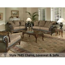 SanMarChocolate/Silas Raisin/Kent Fringe 7685FRLS - Loveseat