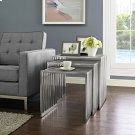 Duct Nesting Table in Silver Product Image