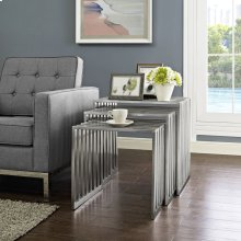 Duct Nesting Table in Silver