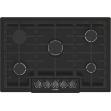 800 Series Gas Cooktop 30'' Black