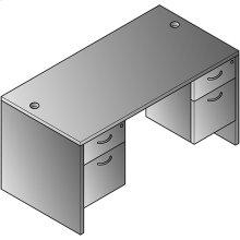 """Lodi Double Pedestal Desk 60""""x30"""""""