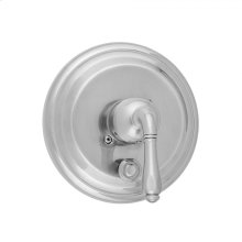 Antique Brass - Round Step Plate With Smooth Lever Trim For Pressure Balance Valve With Built-in Diverter (J-DIV-PBV)