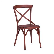 X Back Side Chair - Red