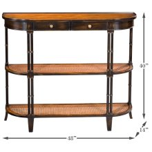 Winston Console Table W/Shelves