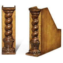 Pair of Twisted Column Box File Bookends