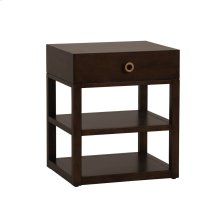 Light Brown Leeward Tier Small Bedside Table