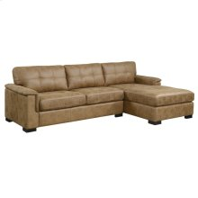 2 Piece Sectional-Saddle Brown