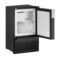 "BI95FC 14"" Marine Crescent Ice Maker Black Solid Field Reversible"