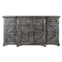 Bengal Manor Mango Wood Breakfront 4 Door 4 Drawer Black Wash Sideboard