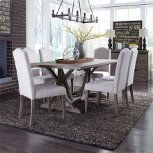 7 Piece Trestle Table Set