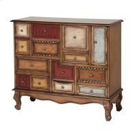 Shelby Apothecary-style Chest With Multi-colored Drawers and Doors Product Image