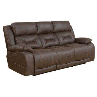 Harper Power Headrest Reclining Sofa, Brown