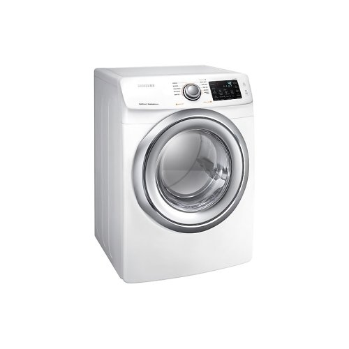 7.5 cu. ft. Gas Dryer with Steam in White