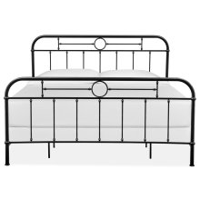 Complete King Metal Bed - Black