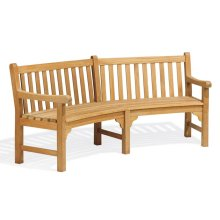 Essex Curved Bench - Shorea