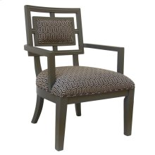 Sydney Geometric Pattern Grey Accent Chair