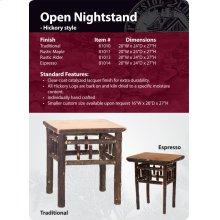 Hickory Open Nightstand