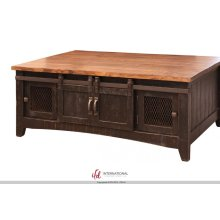 Coffee Table with 2 Sliding Doors