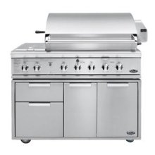 "48"" Grill with Integrated Sideburnerfor Built-In or On Cart Applications"