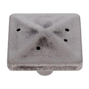 "Rustic Nickel 1-3/4"" Rustic Square Knob Product Image"