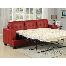 Diamond Red Bonded Leather Sofa w/Queen Sleeper Set