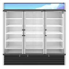 RM-65-HC, Refrigerator, Three Section Glass Door Merchandiser