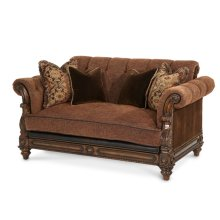 Leather/Fabric Loveseat - Opt1