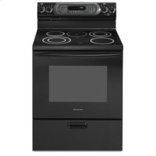 "30"" Width 4 Elements & Warming Element Ceramic Glass True Convection Oven CleanBake™ Architect® Series Electric Freestanding Range(Black)"