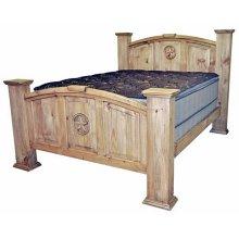 Queen Mansion Bed W/star