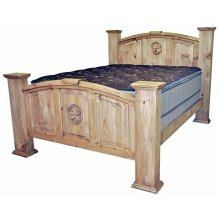 Queen Mansion Bed W/star