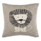 Dandy Lion Pillow - Grey / Natural / Black Product Image