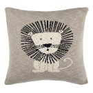 Dandy Lion Pillow - Grey / Natural / Black Product Image
