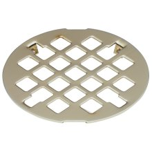 Deluxe Shower Drain Trim Grid - Graphite