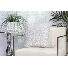 "Outdoor Pillow As524 Grey 20"" X 20"" Throw Pillow"