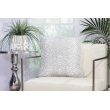 "Outdoor Pillow As524 Grey 20"" X 20"" Throw Pillow"