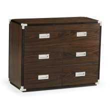 Campaign Style Dark Santos Rosewood Filing Cabinet