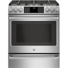 Slide-In Front Control, Dual Fuel, 5.6cu ft PreciseAir convection, Wifi Connected Oven