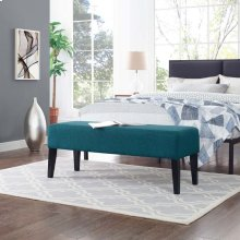 Connect Upholstered Fabric Bench in Teal