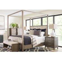 Upholstered Poster Bed, King 6/6