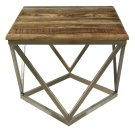Bengal Manor Mango Wood and Iron Square End Table Product Image