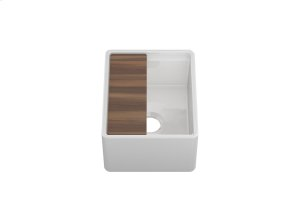 "Fira 091519 - undermount with apron front fireclay Bar sink with accessory ledge , 13 1/4"" × 15 3/4"" × 7"" Product Image"