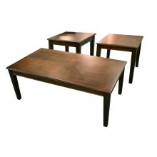 Merlot 3 Pack - Cocktail Table & Two End Tables