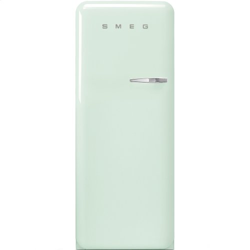 "Approx 24"" 50'S Style Refrigerator with ice compartment, Pastel green, Left hand hinge"