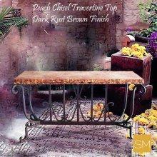* Travertine Console Table 1213 C